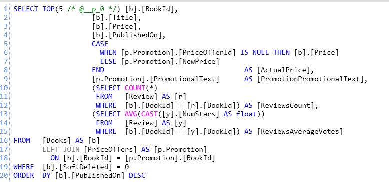 re: Entity Framework Core performance tuning–part I - Ayende @ Rahien