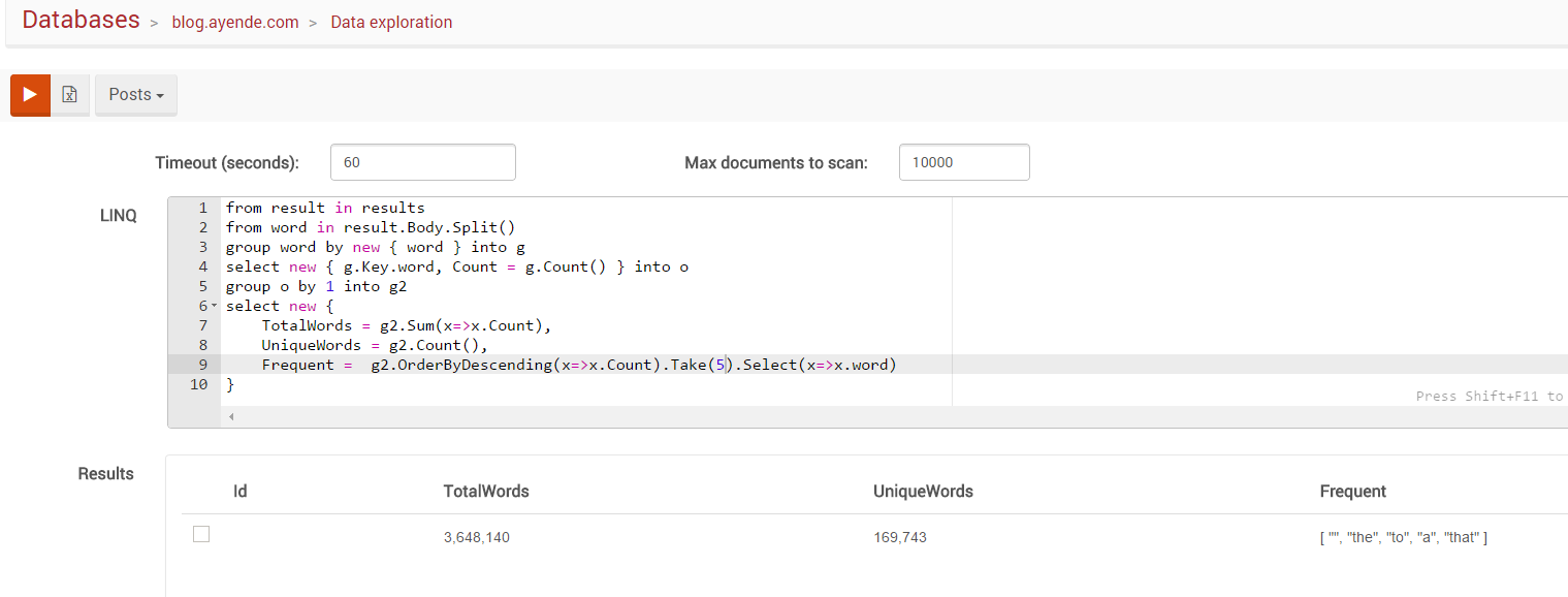 RavenDB 3.5 Features: Data Exploration